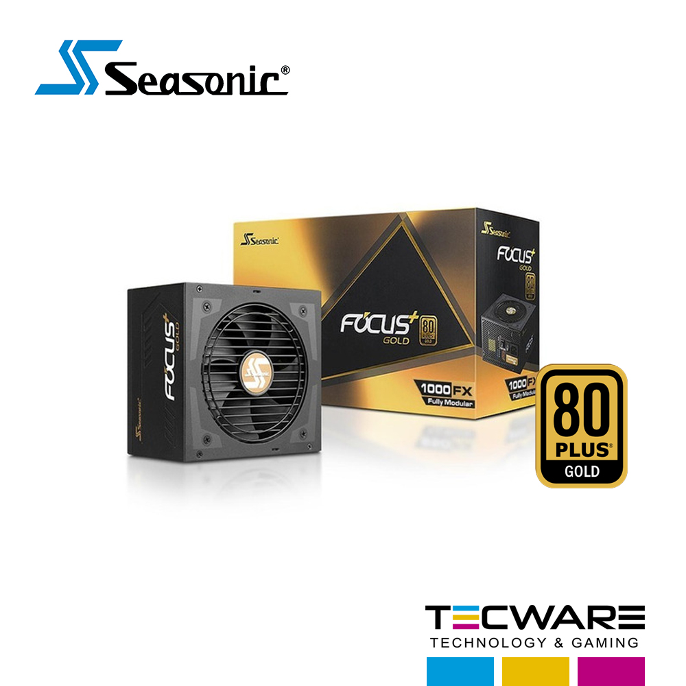 FUENTE DE PODER 1000W SEASONIC FOCUS 80 PLUS GOLD MODULAR