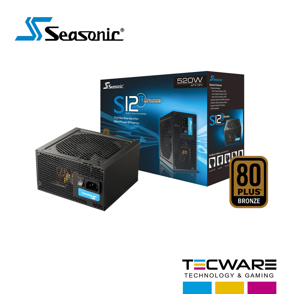 FUENTE DE PODER 520W SEASONIC 80 PLUS BRONZE S12 II