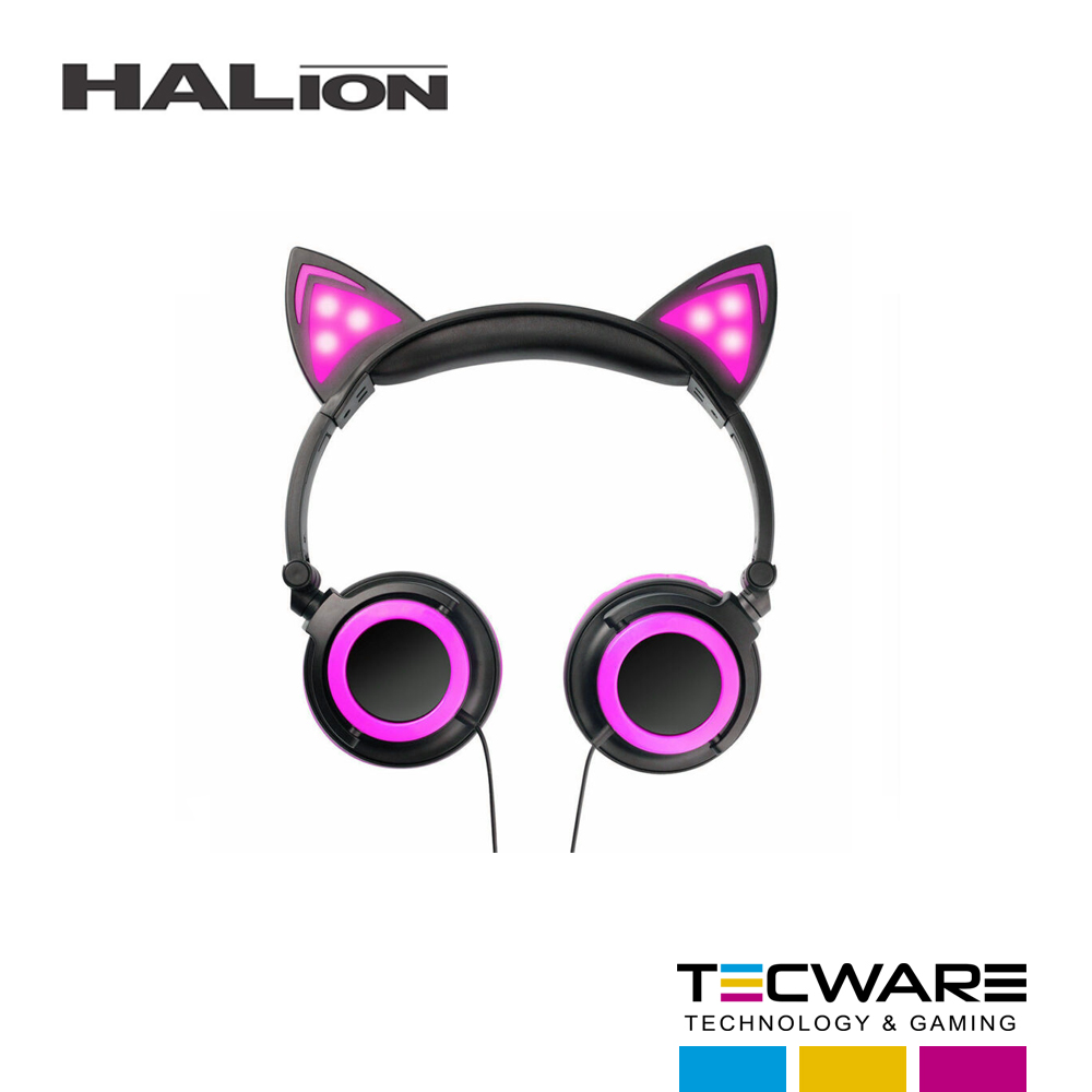 AURICULAR HALION CAT EARS T69 ROSADO