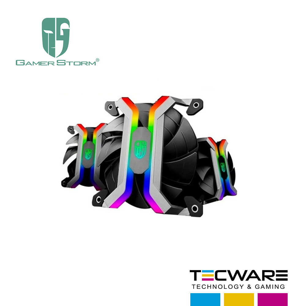 COOLER P/CASE GAMER STORM PACK 3 COOLER 120MM MF120S LED-RGB