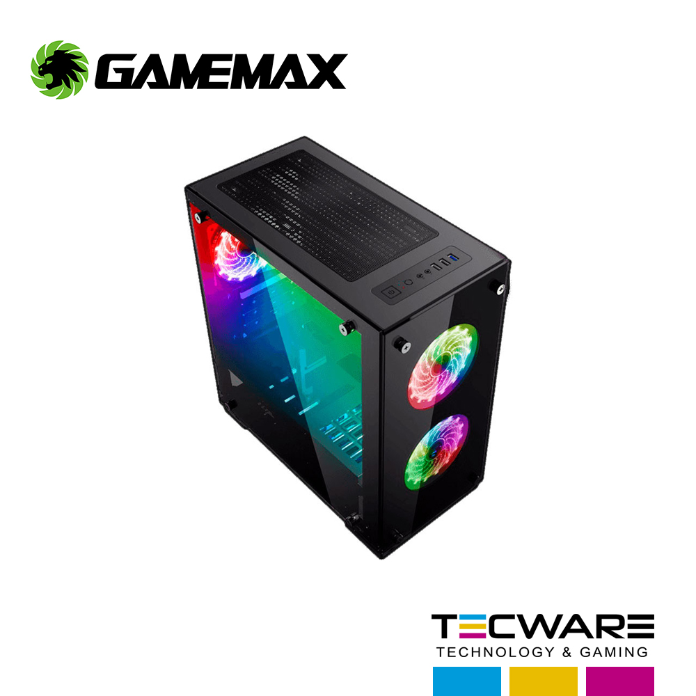 CASE GAMEMAX H605-TA RGB PANEL VIDRIO S/ FUENTE