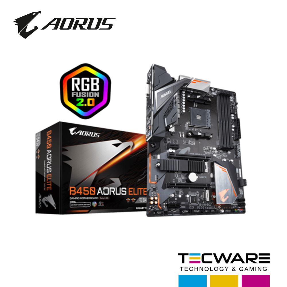 TARJ. MADRE GIGABYTE B450 AORUS ELITE AM4 LED
