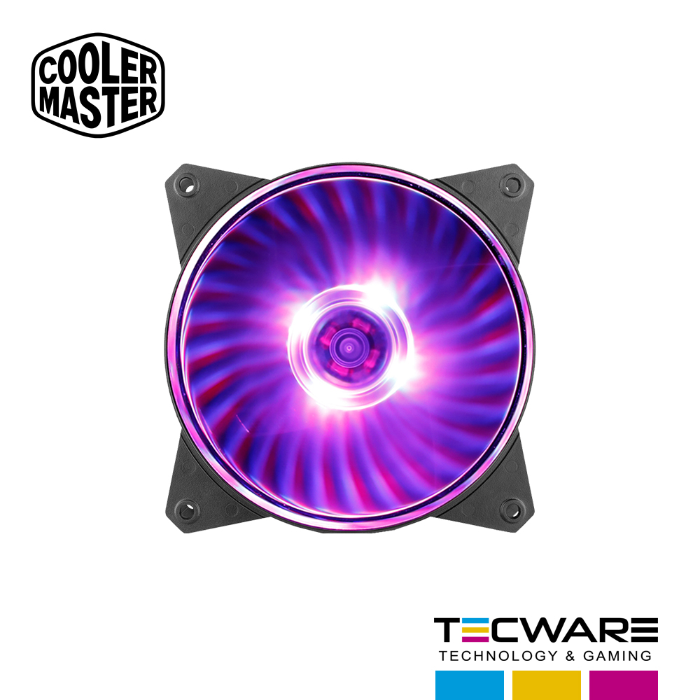 COOLER P/ CASE COOLER MASTER MASTERFAN MF120L 120MM RED LED