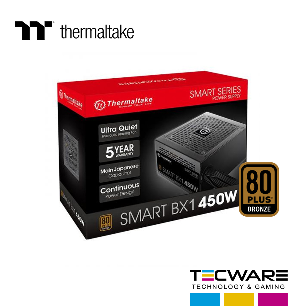 FUENTE DE PODER 450W THERMALTAKE SMART BX1 80 PLUS BRONZE