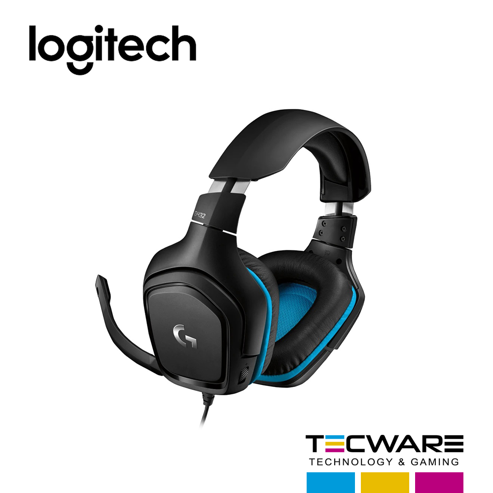AURICULAR LOGITECH (G432) 7.1 BLACK GAMING