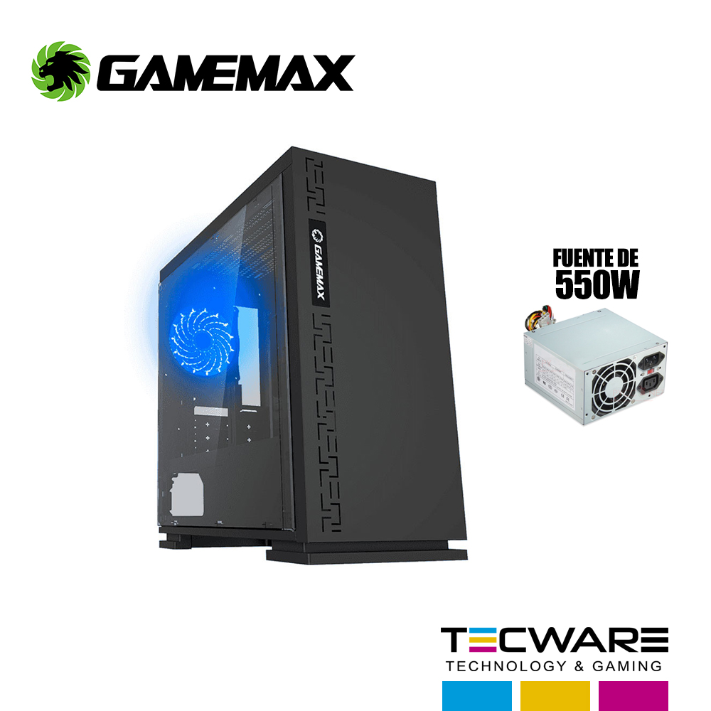 CASE GAMEMAX EXPEDITION (H605BK) NEGRO C/FUENTE 550W