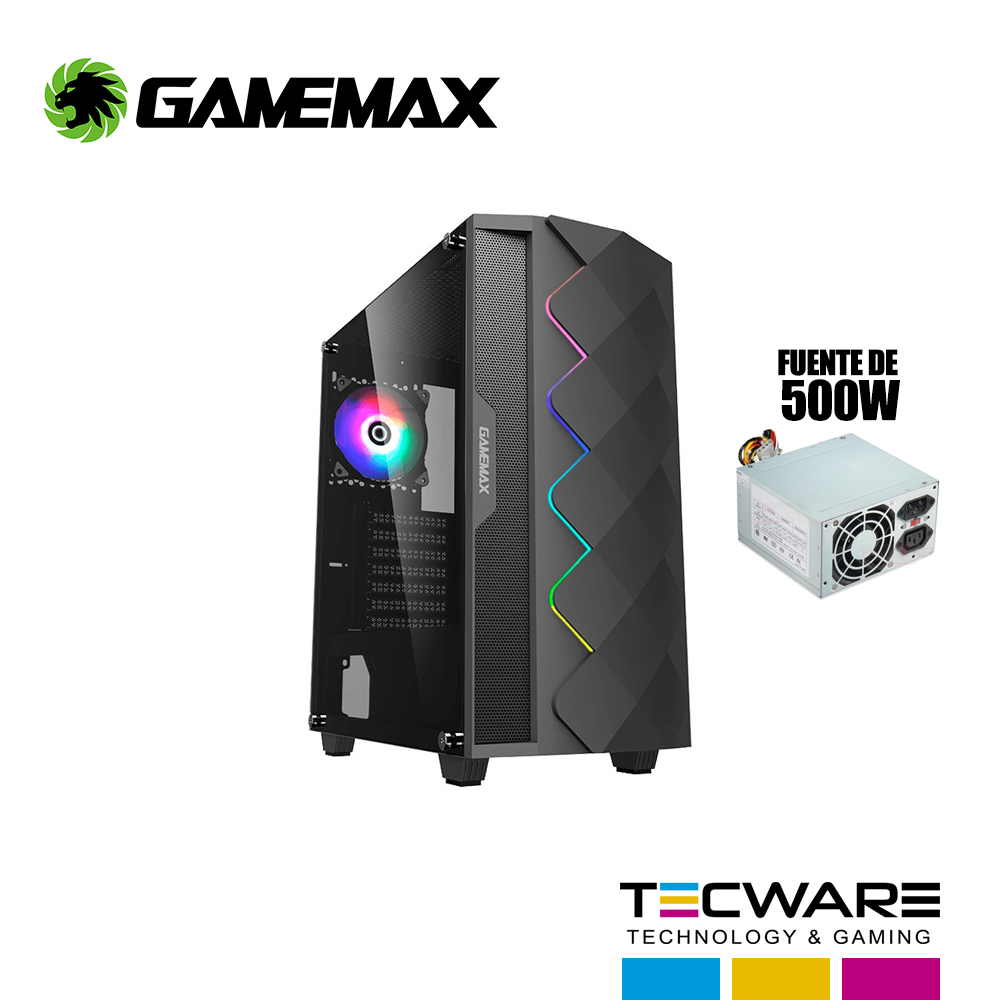 CASE GAMEMAX BLACK DIAMOND A361 C/ FUENTE 550W