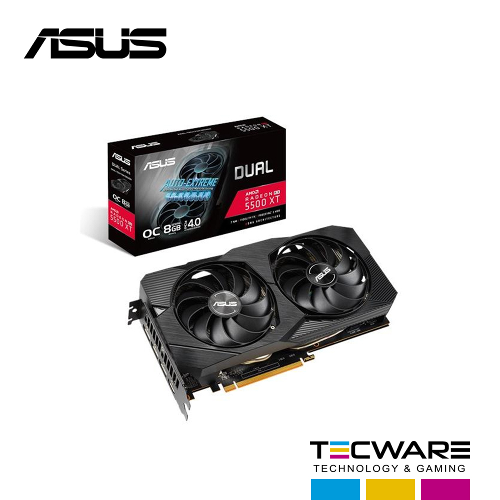 TARJ. VIDEO ASUS DUAL RADEON RX5500 XT OC 8GB GDDR6 4.0
