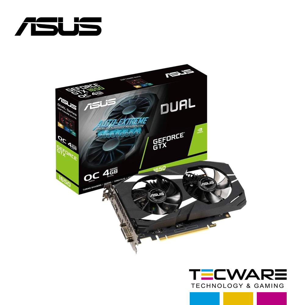 TARJ. VIDEO ASUS DUAL GEFORCE GTX 1650 4GB GDDR5 128BIT