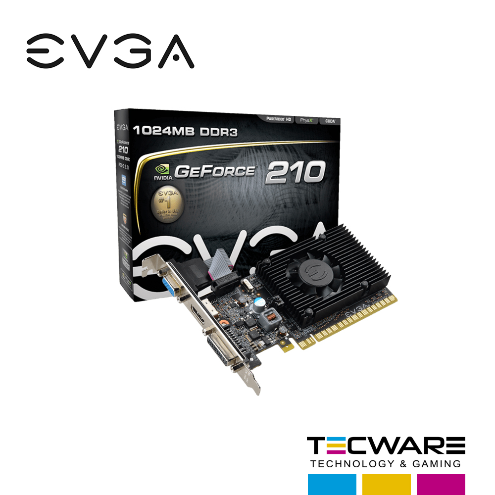 TARJ. VIDEO EVGA GEFORCE 210 16GB DDR3 64BITS
