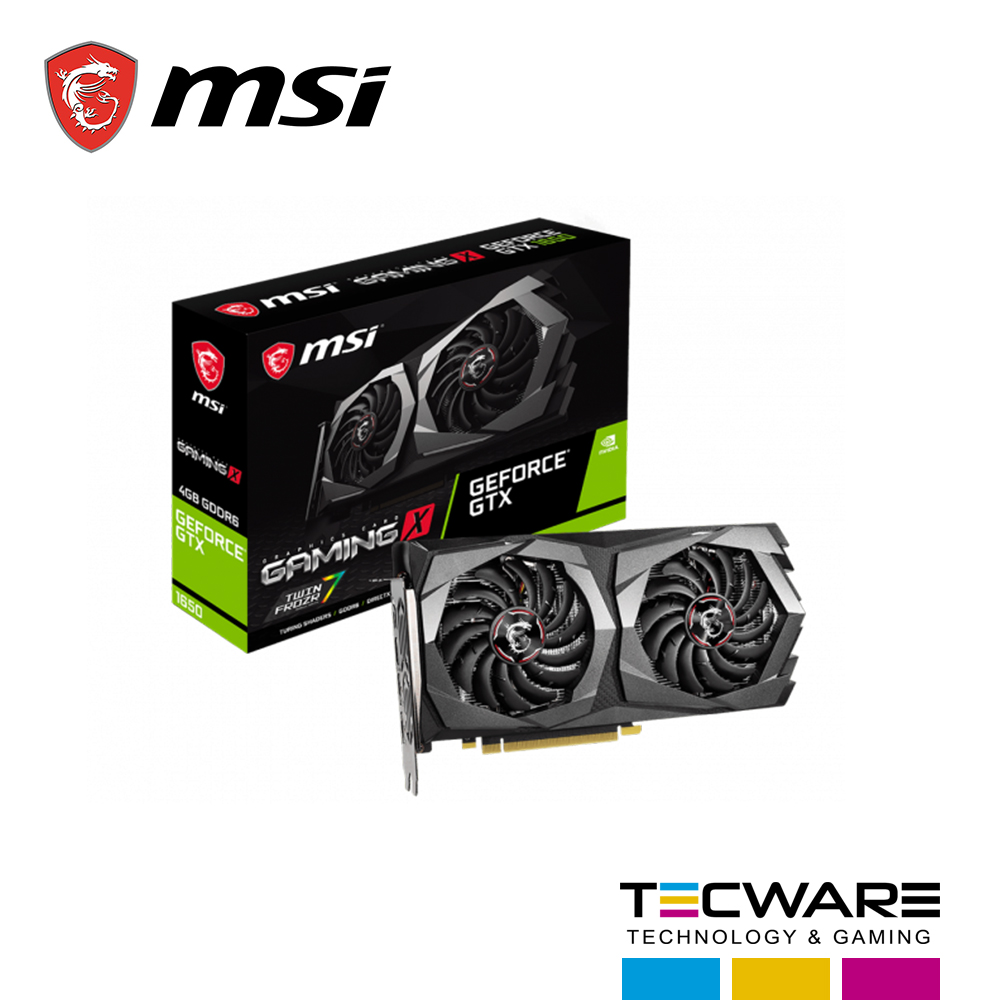 TARJ. VIDEO MSI GEFORCE GTX 1650 D6 GAMING X 4GB GDDR6