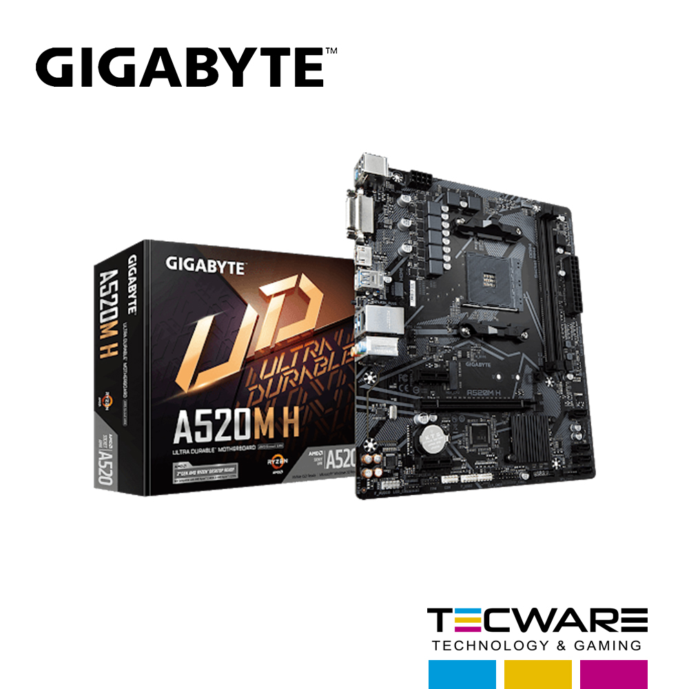 TARJ. MADRE GIGABYTE A520M H AM4 AMD
