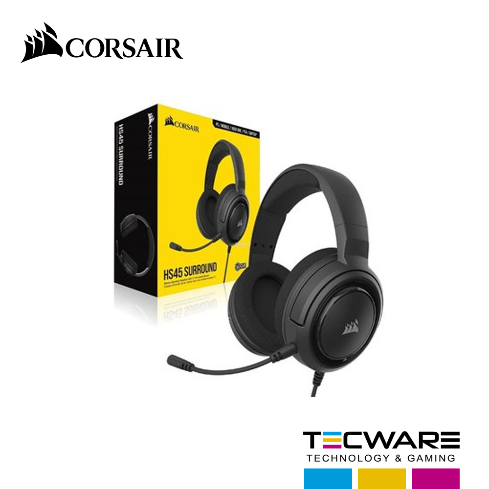 AURICULAR CORSAIR HS45 SURROUND CARBON (CA9011220-NA)
