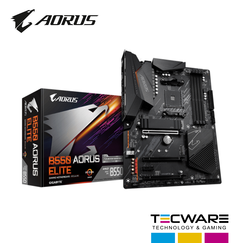 TARJ. MADRE GIGABYTE B550 AORUS ELITE AMD RYZEN DDR4 AM4