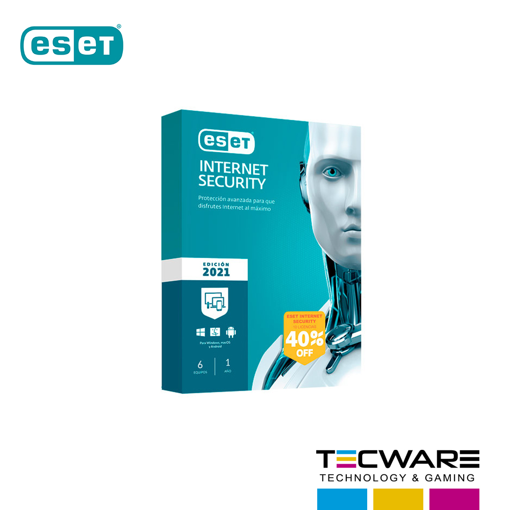 ANTIVIRUS ESET NOD32 INTERNET SECURITY EDICION 2021 6PC